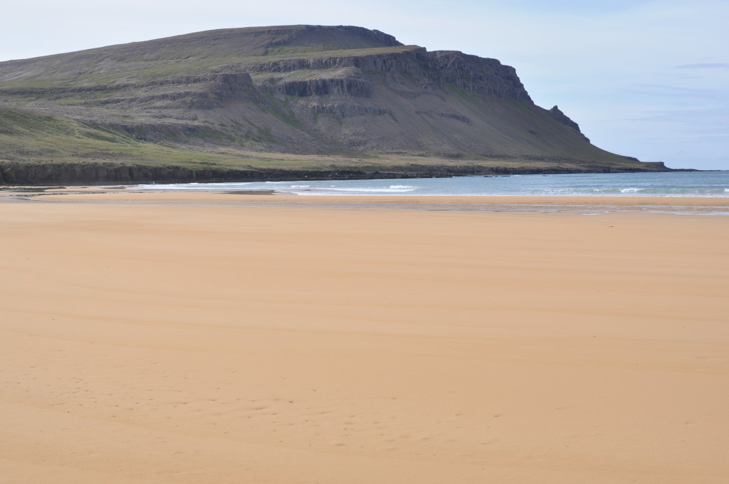 Rauðasandur, Iceland's only red sand beach, and a gorgeous one. I swam here in the North Atlantic.