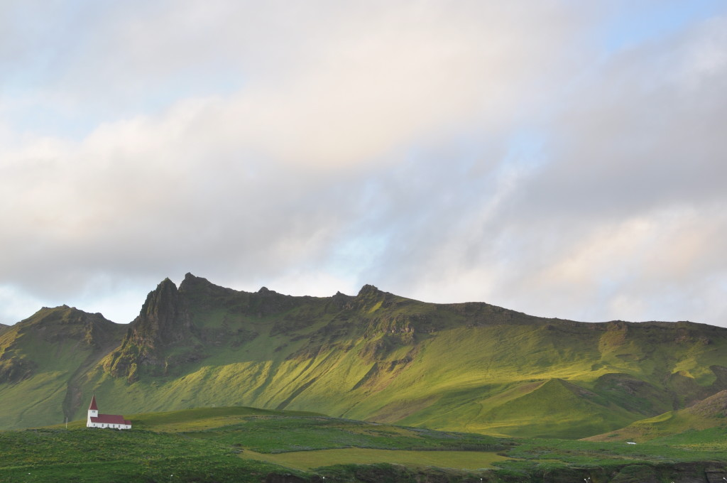 The town of Vík in the south.