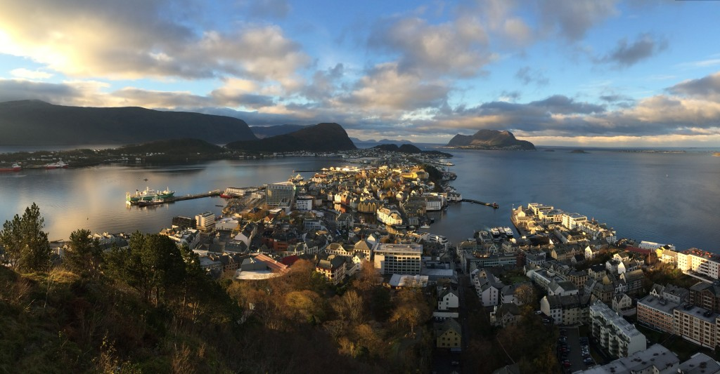 Day One: Ålesund from Fjellstua Aksla.