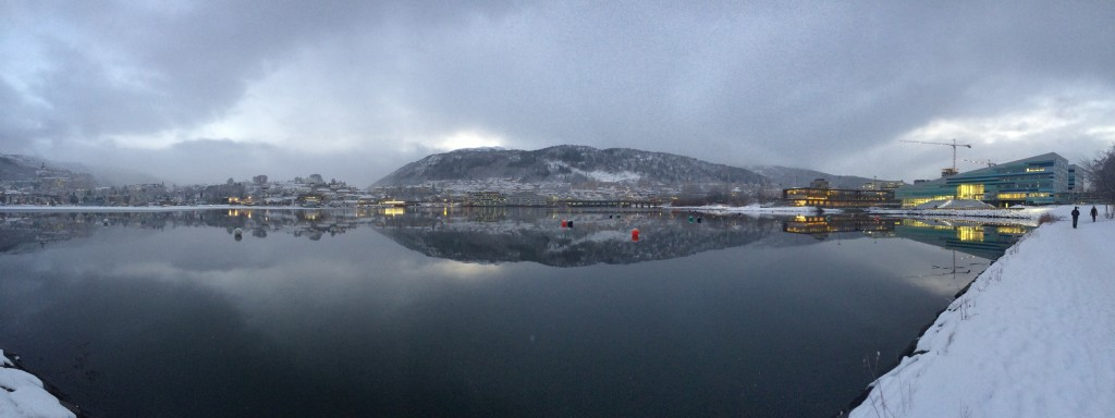 Bergen wears winter well.