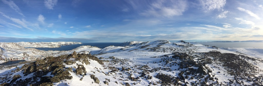 Magerøy and Porsangerfjorden. This is treeless Finnmark in the farthest north.