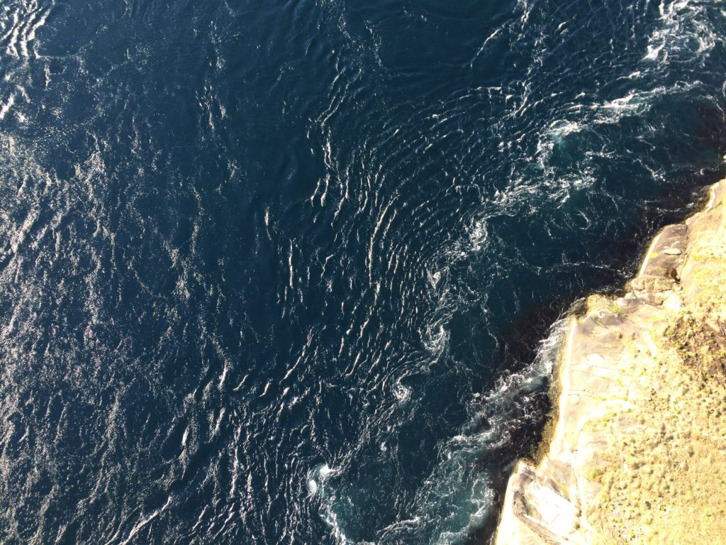 Saltstraumen. The world's most powerful tidal current. Near Bodø.